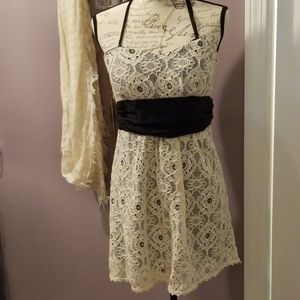Black and White Lace Party dress